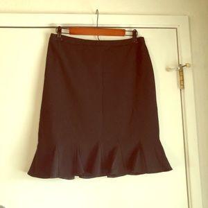 INC Black Pencil Skirt W/ Kick Pleats 8